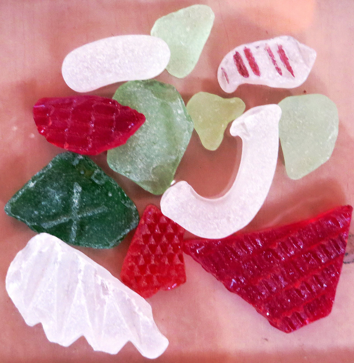 Seasoned Greetings sea glass by Justine Kibbe