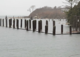 high tide at dock
